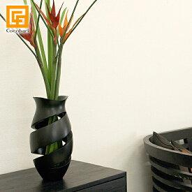 Flower Vase Classy【 おしゃれ 木製 花瓶 フラワーベース 高級感 シンプル デザイン アジアンモダン 和室 クラッシィ 】