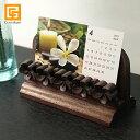 木製スタンド(プルメリア)C ◆【 パンフレットラック a4 卓上 カタログ立て プルメリア ディスプレイ バリ 雑貨 バリ…