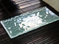 《バリ風の部屋》ガラス製プレート(フランジパニ)