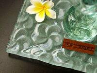 《バリ雑貨》ガラス製プレート(フランジパニ)