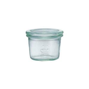 WECK(ウェック)ガラスキャニスター(80ml)MoldShape(モールドシェイプ)WE-080