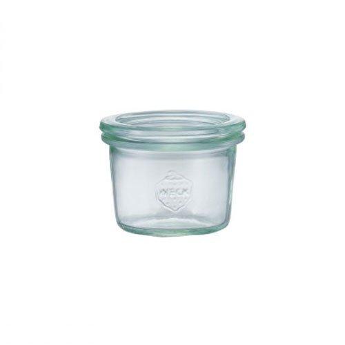 WECK (ウェック)ガラスキャニスター(80ml)Mold Shape(モールドシェイプ)WE-080