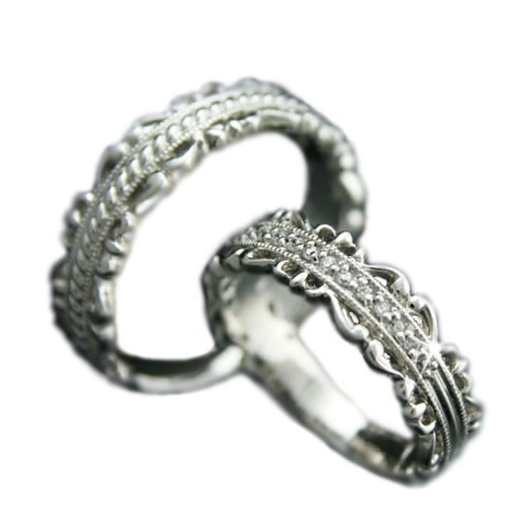 ペアリング マリッジリング 結婚指輪 プラチナ Pt900 2本セット 天然 ダイヤモンド 日本製【NEWショップ】【送料無料】 】【プラチナ】【結婚指輪】【ペアリング】