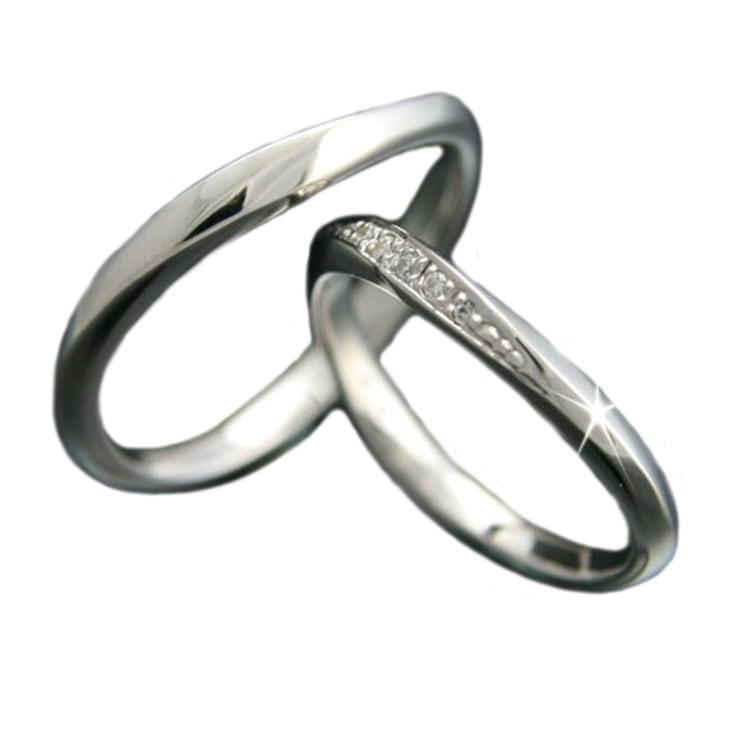 ペアリング 2本セット K18 ホワイトゴールド 結婚指輪 天然 ダイヤモンド 日本製【NEWショップ】【送料無料】 【ペアリング】【ホワイトゴールド】