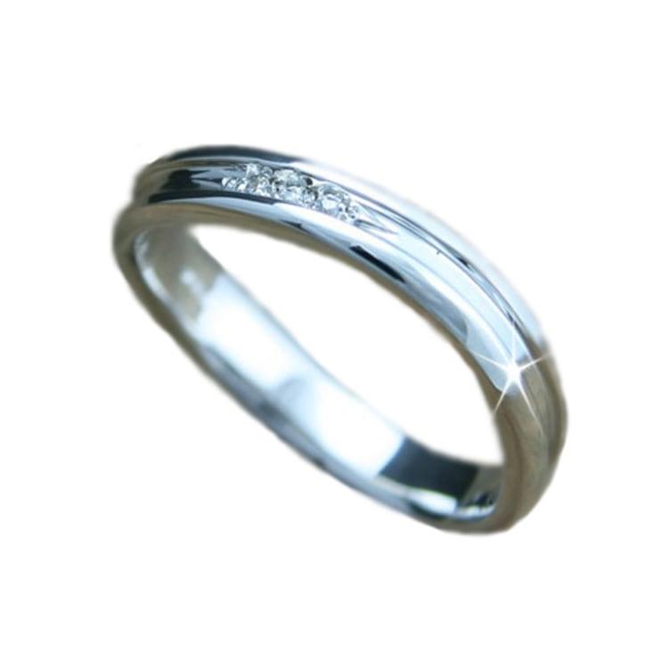 【メール便発送のみ送料無料】マリッジリング 指輪 ダイヤ シルバー リング ダイヤリング 天然 ダイヤモンド 日本製【NEWショップ】 【指輪】【シルバー】