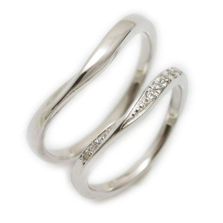 ペアリング 2本セット プラチナ Pt900 マリッジリング 結婚指輪 天然 ダイヤモンド 日本製【NEWショップ】【送料無料】 】【プラチナ】【結婚指輪】【ペアリング】