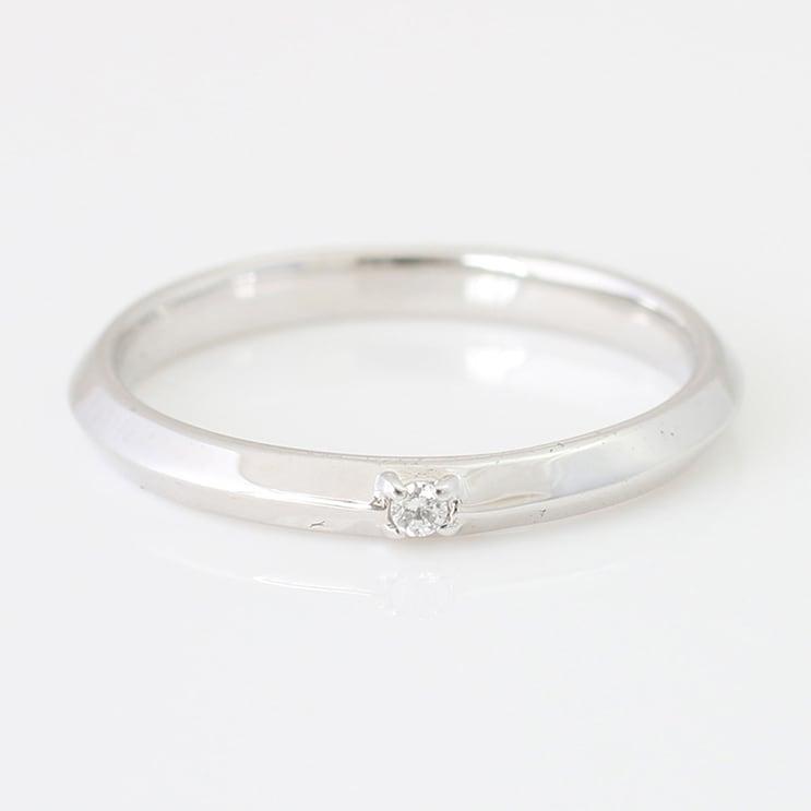 指輪 K18ホワイトゴールド リング 天然ダイヤモンド マリッジリング 結婚指輪 日本製【NEWショップ】【送料無料】【指輪】【ゴールド】【リング】【ダイヤモンド】