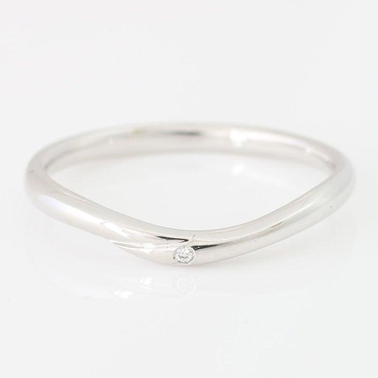 指輪 K10ホワイトゴールド リング 天然ダイヤモンド マリッジリング 結婚指輪 日本製【NEWショップ】【送料無料】【指輪】【ゴールド】【リング】【ダイヤモンド】
