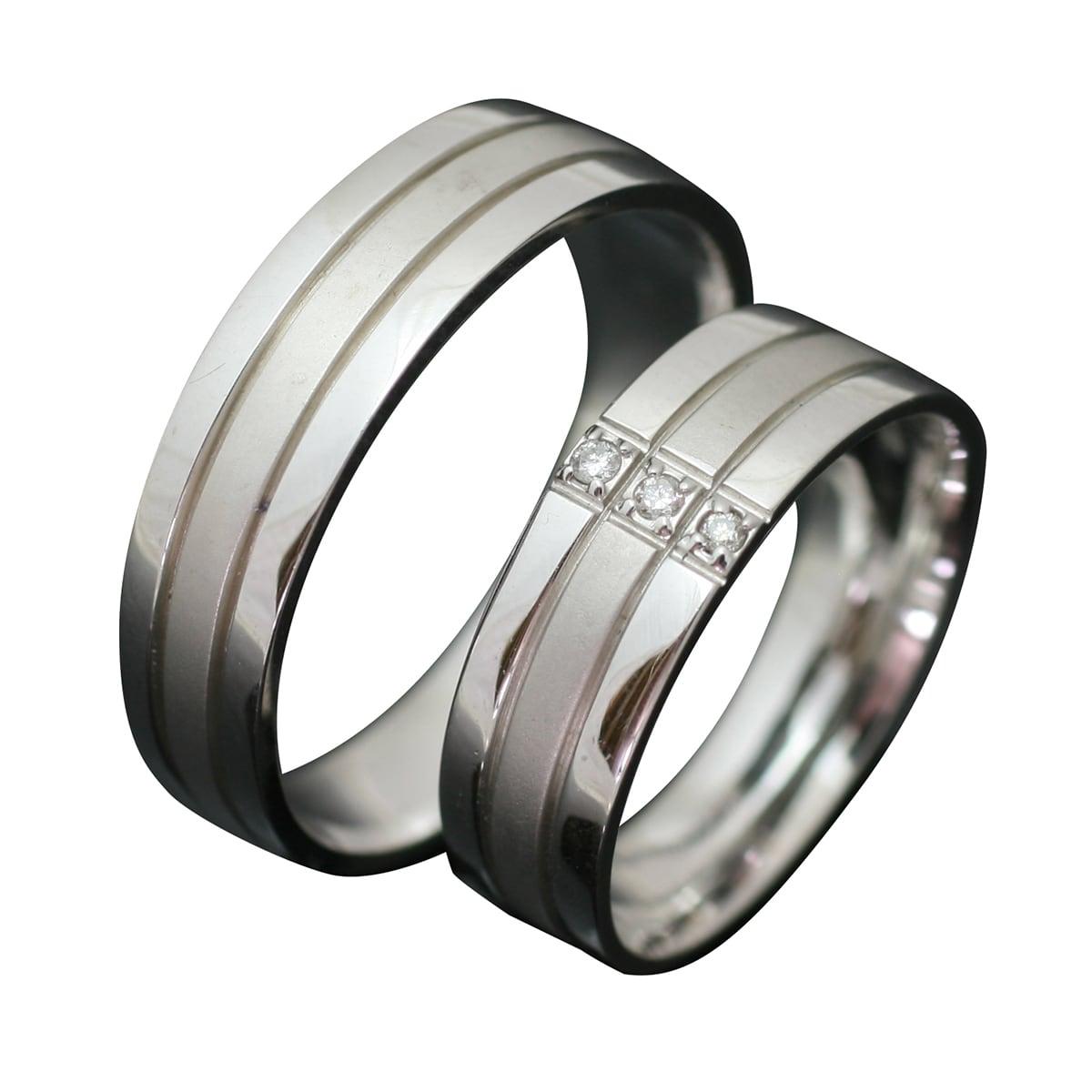 ペアリング 2本セット ダイヤリング K10 ホワイトゴールド 天然 ダイヤモンド マリッジリング 結婚指輪 日本製【NEWショップ】【送料無料】 【ペアリング】【ホワイトゴールド】