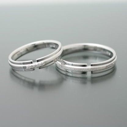 ペアリング プラチナ 結婚指輪 プラチナ Pt900 2本セット マリッジリング 天然 ダイヤモンド 日本製【NEWショップ】【送料無料】 【ペアリング】【プラチナ】【リング】【結婚指輪】