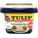 チューリップポーク(うす塩)340g エコパック │TULIPポークランチョンミート ポーク缶詰│
