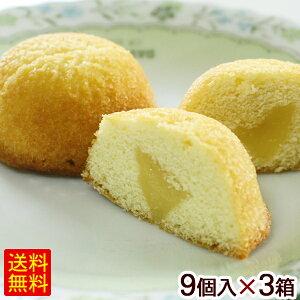 シークワーサーシフォンケーキ 9個入×3箱 【送料無料】 /沖縄お土産 お菓子