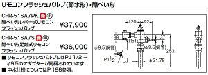 INAX イナックス LIXIL リクシル トイレ リモコンフラッシュバルブ (節水形) ・隠ぺい形 CFR-51SA7S 隠ぺい形足踏式リモコンフラッシュバルブ