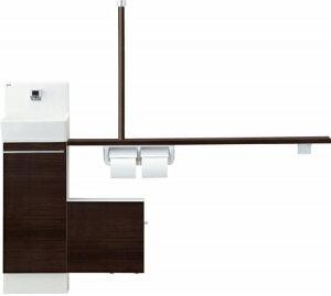 コフレル YL-DA82SSAL12A-N トイレ手洗 左仕様 スリム (壁付) 自動水栓 手すりカウンター カラクリキャビネットタイプ YLDA82SSAL12AN LIXIL リクシル INAX イナックス 手洗い器 トイレ[メーカー直送][代