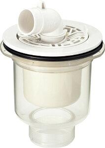 TP-53/FW1 洗濯機 防水パン用 排水トラップ INAX・LIXIL リクシル (縦引き) 透明 ABS製排水トラップ TP53/FW1 洗濯パン、洗濯機パン、防水パン