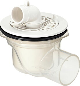 TP-54 洗濯機 防水パン用 排水トラップ INAX・LIXIL リクシル (横引き) 透明 ABS製排水トラップ TP54 洗濯パン、洗濯機パン、防水パン