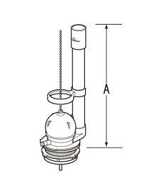 TF-1890CW INAX イナックス LIXIL リクシル トイレ 排水弁 フロート弁 (オーバーフロー管高さA:260mm) TF1890CW