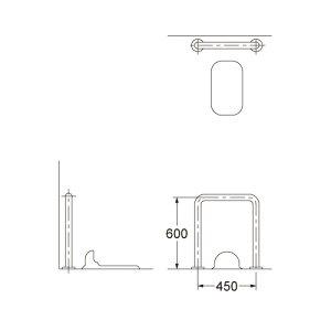カクダイ 和式トイレ用 手すり 2420-38