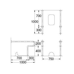 カクダイ 和式トイレ用 手すり 2430-32