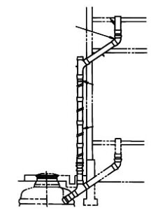 INAX イナックス LIXIL リクシル トイレ 簡易水洗便器 トイレーナ 専用便槽部品 無臭便槽用 2階用配管セット BT-114R