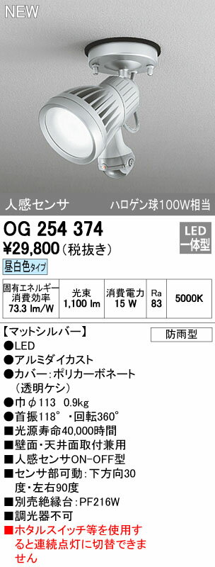 オーデリック エクステリアライト 【OG 254 374】【OG254374】