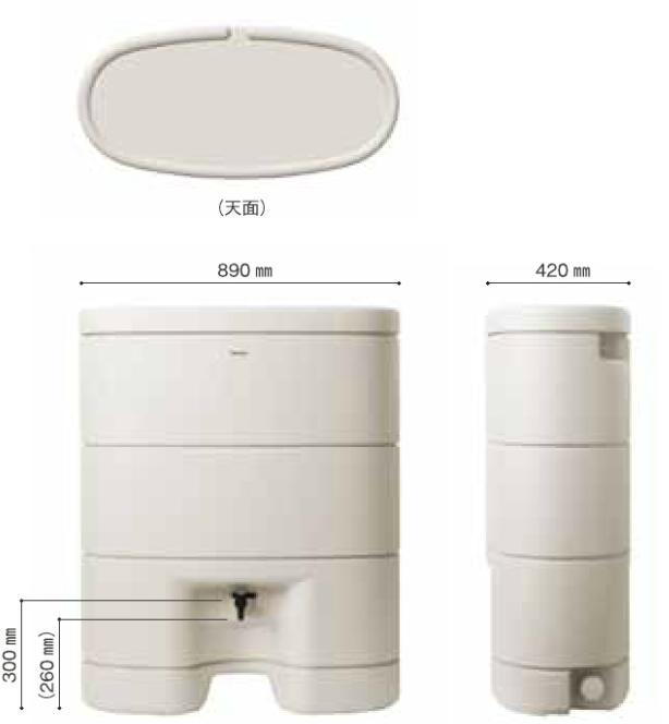 MQW104 雨水貯留タンク パナソニック レインセラー150 大型商品の為メーカー直送便 代引き不可