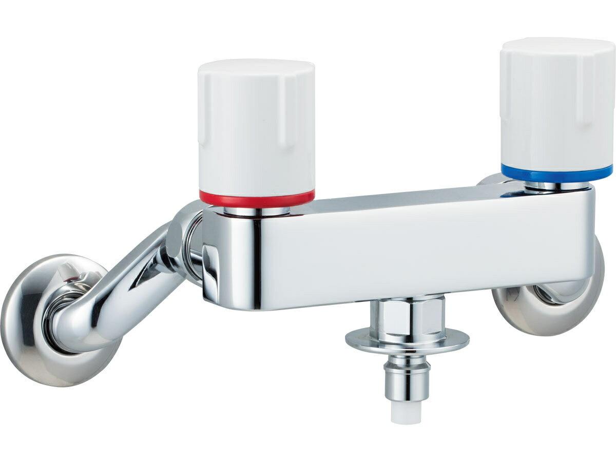 INAX[イナックス]・LIXIL[リクシル] SF-WL63KQ 洗濯機用水栓金具 露出タイプ(屋内専用) 緊急止水弁付2ハンドル混合水栓