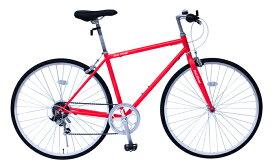 【送料無料】ミムゴ FIELD CHAMP クロスバイク700CMG-FCP700CF(レッド)差込みハンドル・6段変速