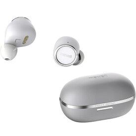 Bluetooth対応完全ワイヤレスカナル型ヘッドホンmaxell/マクセルMXH-BTW2000WS(ホワイト×シルバー)ブルートゥース グラフェンコート Ver5.0 おしゃれ コンパクト AAC フルワイヤレス 防水 密閉ダイナミック型 片耳 イヤホン