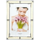 【レターパックでお届け】ラドンナ フォトフレームMJ62-2L-WH(ホワイト)シック 大人の女性 デザインフレームクリスタ…