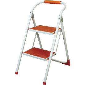 STEP-OR(オレンジ)ステップラダーLFS-007ORミニ脚立梯子 ステップ台 折りたたみ式踏み台 東谷