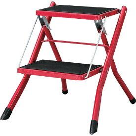 ASISTA-RD(赤) ステップラダーPC-334RDミニ脚立梯子 ステップ台 折りたたみ式踏み台 東谷