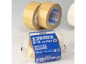 セキスイ/布粘着テープ エコラクロス 50mm×50m 茶/NO.701【ココデカウ】
