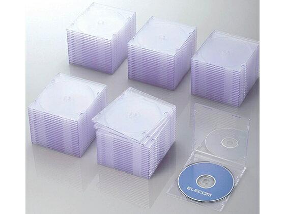 エレコム/Blu-ray DVD CDスリムケース クリア 100枚
