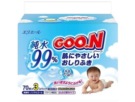 大王製紙/グ〜ンおしりふきつめかえ70枚×3パック