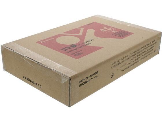 Forestway/ゴミ袋(ティッシュBOXタイプ)黒 45L 100枚