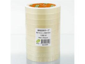 SBテープ/細幅透明OPPテープ SS-4 15mm×50m 10巻