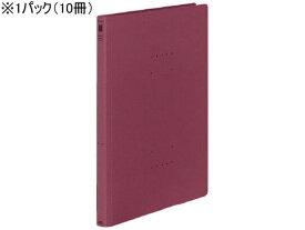 コクヨ/フラットファイル〈NEOS〉A4タテ とじ厚15mm ワインレッド 10冊