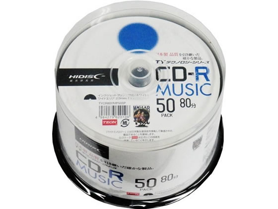 HIDISC/TYシリーズCD-R音楽用 80分 48倍速 50枚