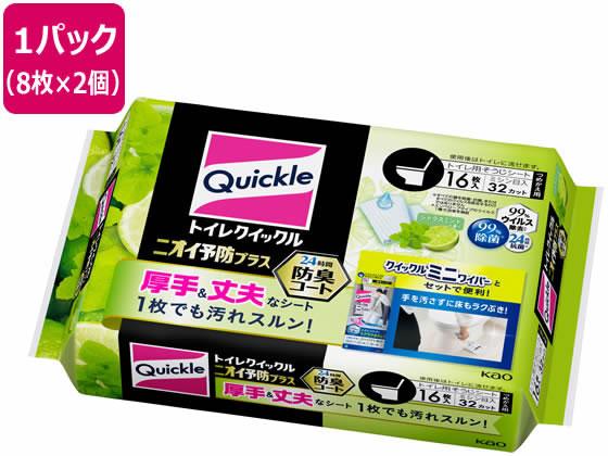 KAO/トイレクイックル ニオイ予防プラス シトラスミント 詰替 16枚