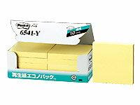 3M/ポスト・イット 再生紙エコノパック イエロー 10冊パック/6541-Y
