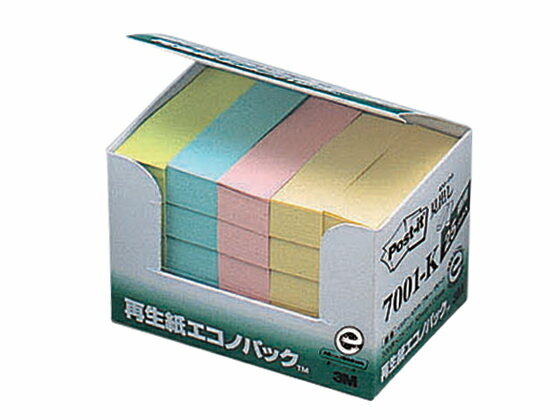 3M/ポスト・イット 再生紙エコノパック 25冊パック/7001-K
