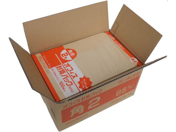 ツバメ工業/テープ付クラフト封筒 角2 85g/m2 500枚/K85-K2T