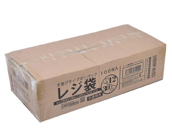 紺屋商事/半透明レジ袋 12号 100枚×20パック/00723212