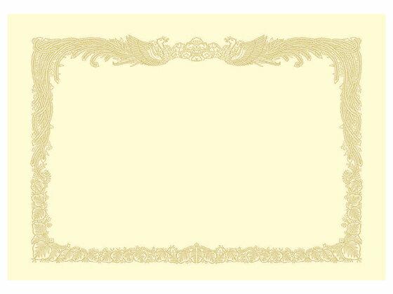 タカ印/OA賞状用紙 クリーム A3判縦書き/10-1087【ココデカウ】