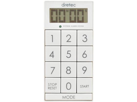 ドリテック/デジタルタイマー 「スリムキューブ」 ホワイト/T-520WT