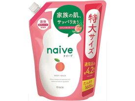 クラシエ/ナイーブ ボディーソープ 桃の葉エキス配合 詰替用 1.6L