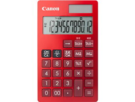 キヤノン/カラー手帳電卓 12桁 赤 KS-12T-RD SOB/1481C003