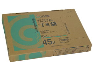 Goono/BOX型ゴミ袋 薄手強化タイプ 乳白半透明 45L 100枚