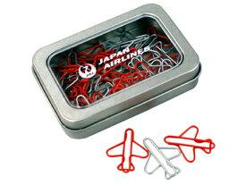 JALオリジナル/缶入り飛行機型クリップ/BJB5008